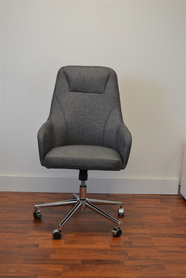 Clyde High Back Executive Office Chair - Charcoal