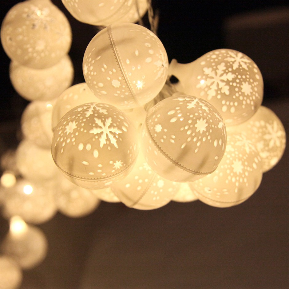 Christmas LED Snowflake String Lights
