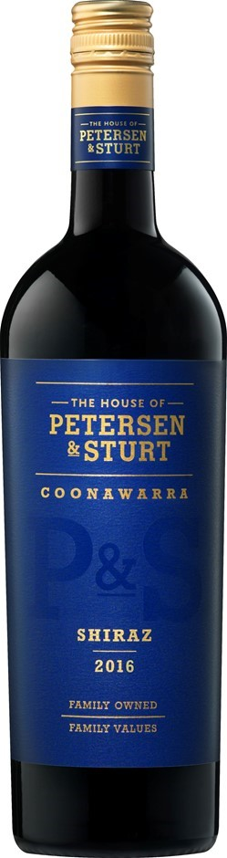 Petersen & Sturt Shiraz 2016 (12 x 750mL), Coonawarra, SA.
