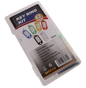 JMV 42pc Key Ring Kit in PVC Storage Cas