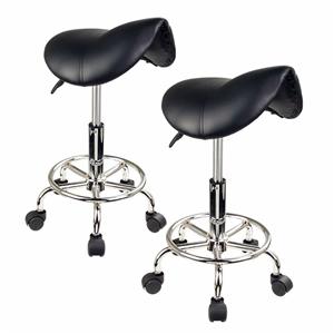 Saddle Salon Stool - BLACK X2