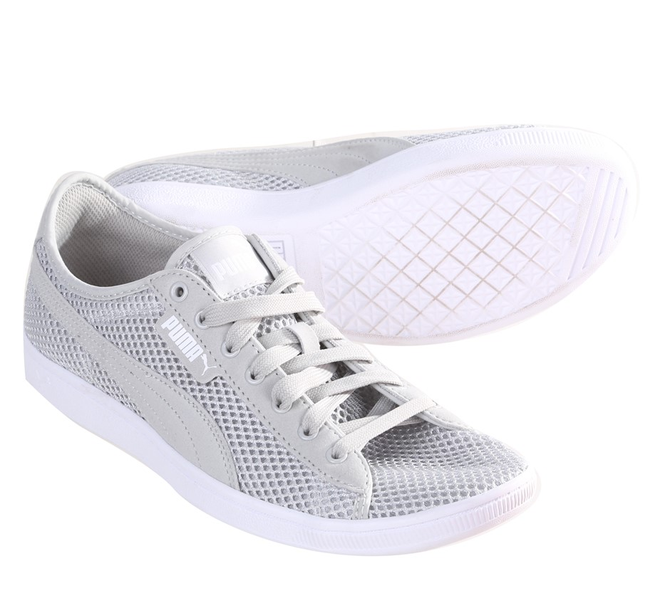 PUMA Women`s Mesh Sneakers, Size 6.5, Grey/White Buyers Note - Discount Fre