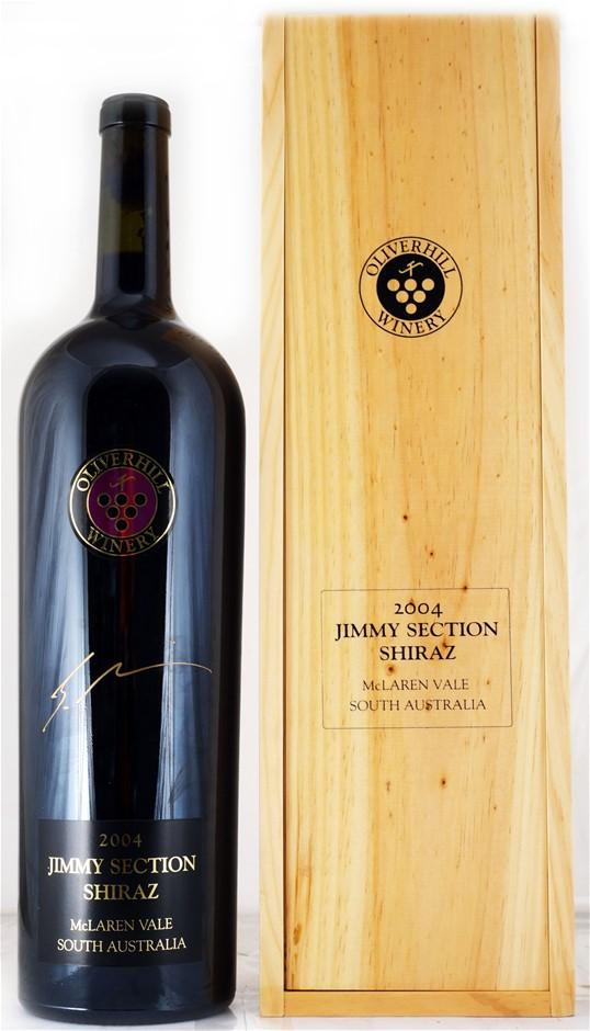 Oliverhill `Jimmy Section` Shiraz 2004 (1 x 3L Double Magnum)SA.