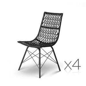 Artiss Set of 4 PE Wicker Dining Chair -