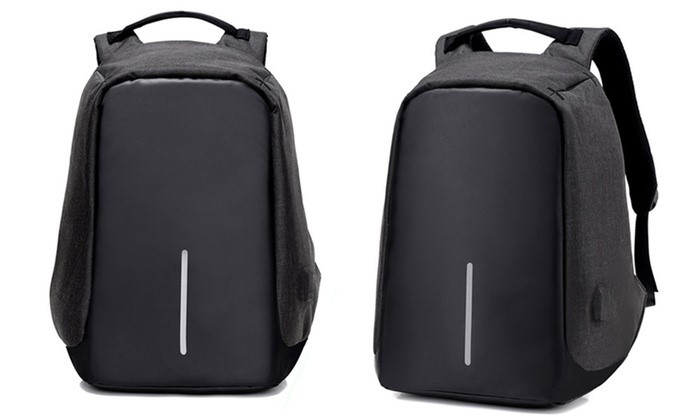 Milano Anti Theft Backpack - Black