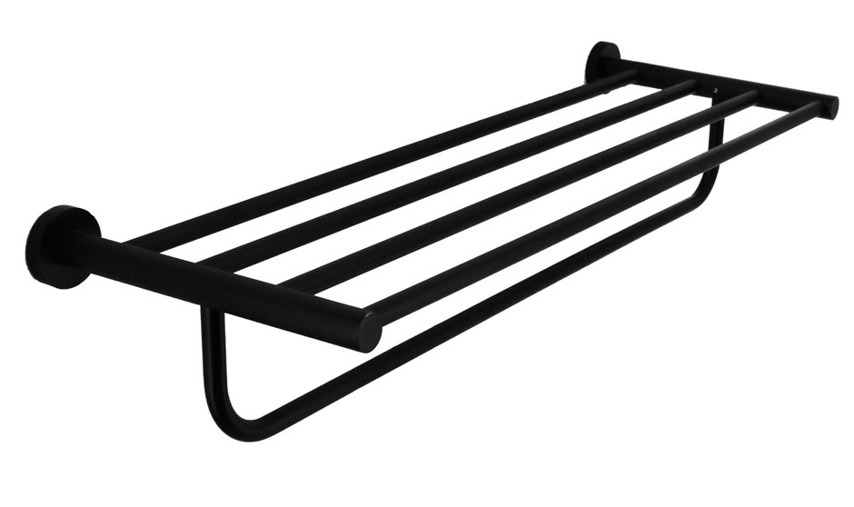 Classic Towel Bar Rail Bathroom Electroplated Matte Black Finish
