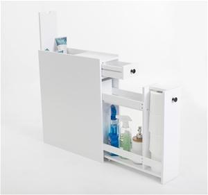 White Bathroom Utility Caddy