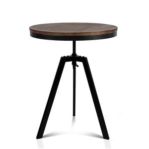 Artiss Elm Wood Round CoffeeTable - Dark