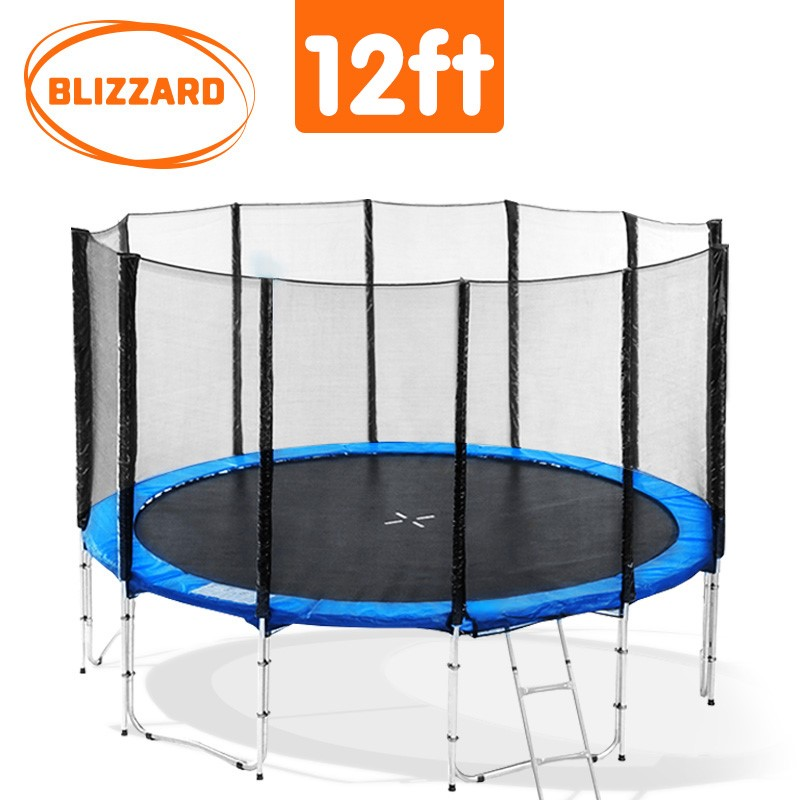 Blizzard 12 ft trampoline with net - Blue