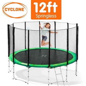 Cyclone 12 ft Springless trampoline with