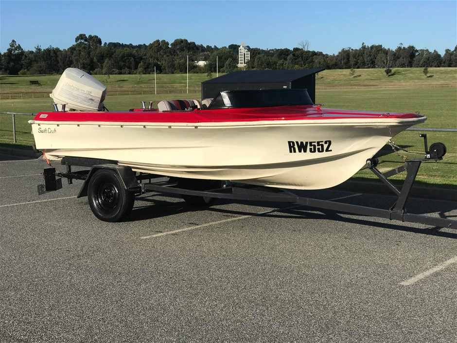 Swiftcraft 1500 Speed Boat With 115 HP Johnson Outboard