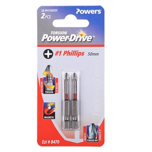 25 x Packs of 2 POWERS #1 x 50mm PHILLIP