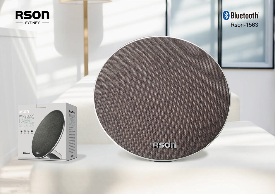 Rson Discus Brown Fabric Wireless Speaker (1563)