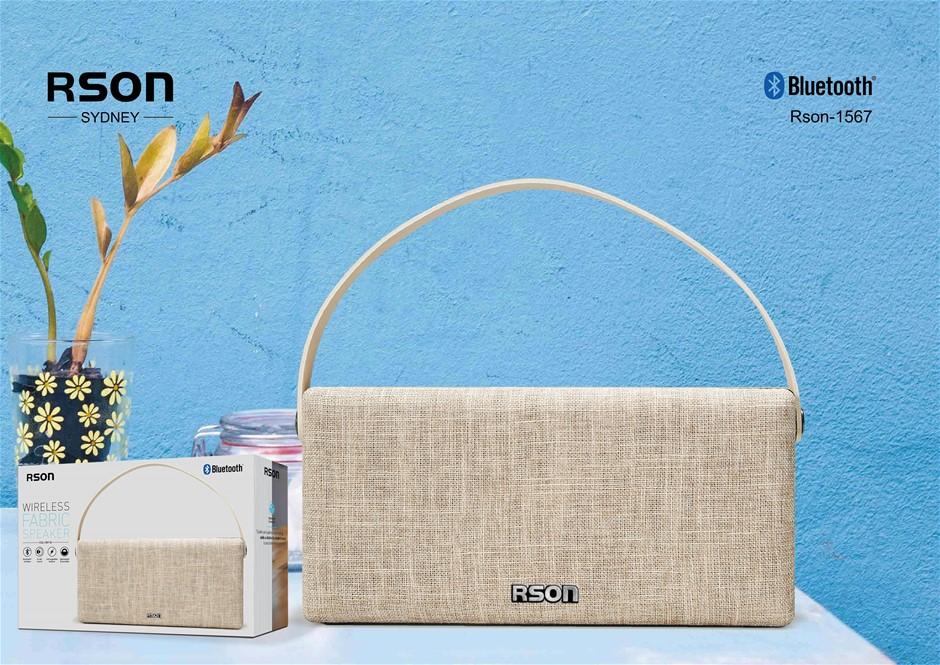 Rson Wireless Brown Double Side Fabric Speaker (1567)