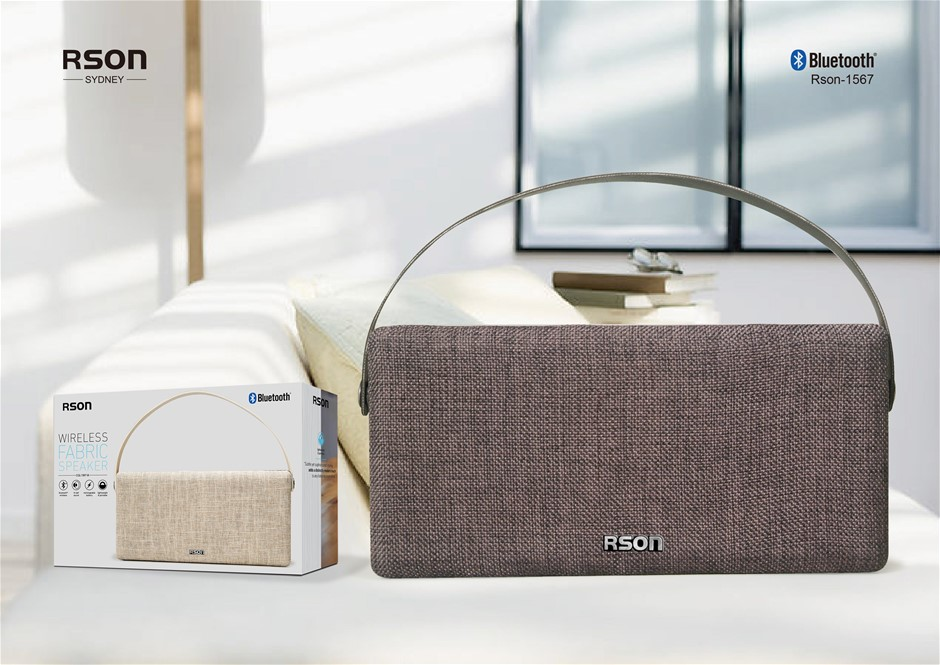 Rson Wireless Black Double Side Fabric Speaker (1567)