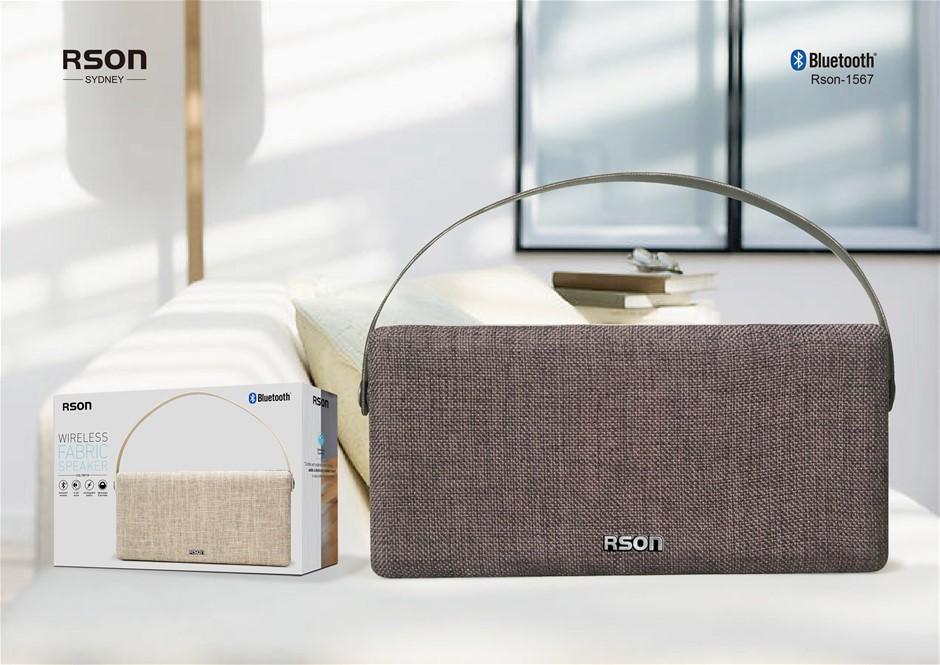 Rson Wireless Black Double Side Fabric Speaker (1567)