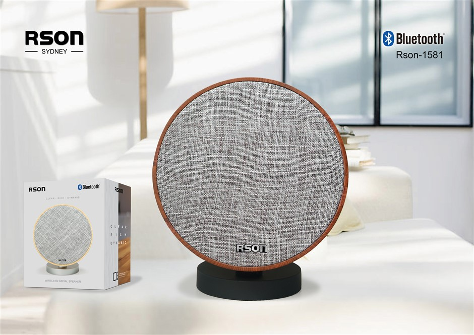 Rson Radial Walnut Bluetooth Speaker (1581)