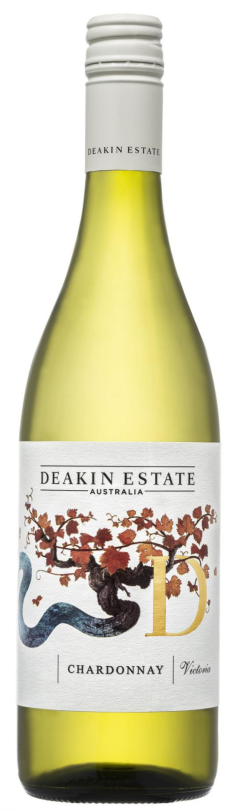 Deakin Estate Chardonnay 2018 (12 x 750mL), VIC.