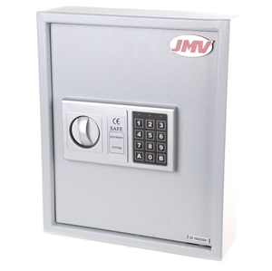 Steel Electronic Key Safe, 350mm x 300mm x 100mm  Adjustable
