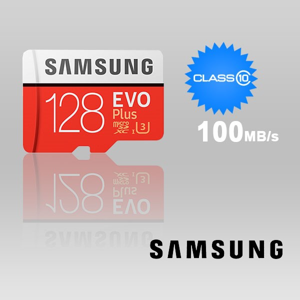 Samsung 128GB UHS-I Plus EVO CLASS 10 U3 4K without SD ADAPTER 100R/90W