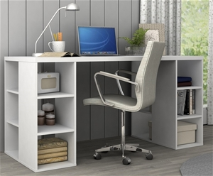 Bloc Modern Desk with Cube Shelves - Mat