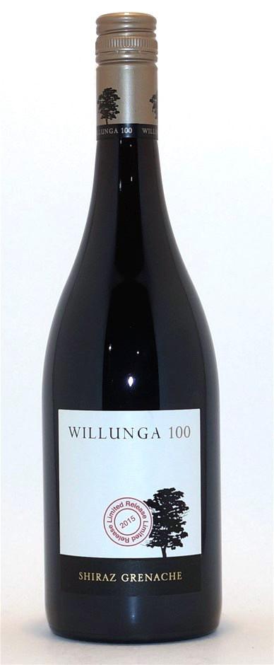 Willunga 100 Shiraz Grenache 2015 (12 x 750mL), McLaren Vale, SA.
