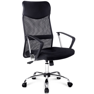PU Leather Mesh High Back Office Chair -