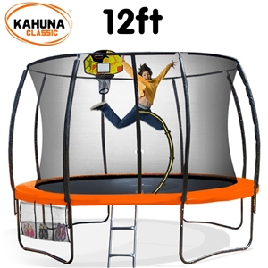 Kahuna Trampoline 12 ft - Orange with Ba