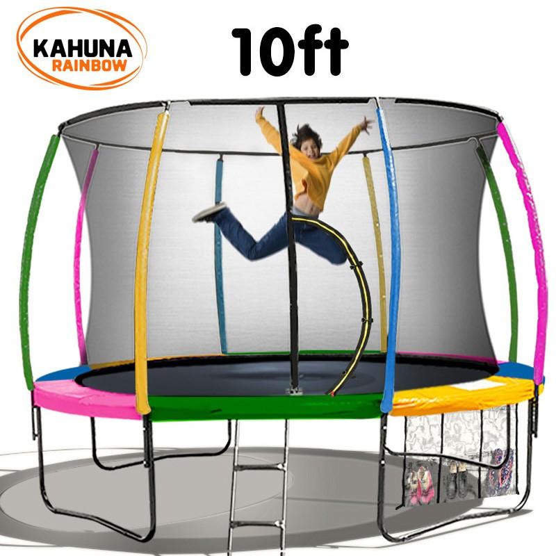 Kahuna Trampoline 10 ft - Rainbow
