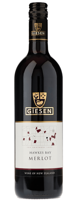Giesen Merlot 2015 (6 x 750mL) Hawkes Bay New Zealand
