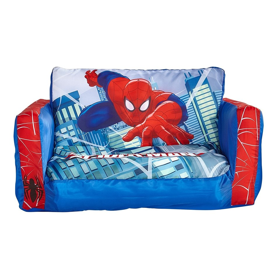 SPIDERMAN Flip Out Mini Sofa. Buyers Note - Discount Freight Rates Apply to