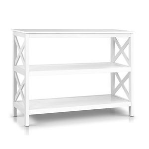 Artiss Wooden Storage Console Table - Wh