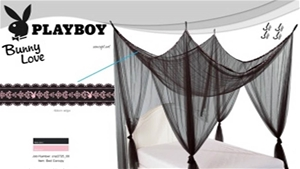 PLAYBOY Lace Bed Canopy, 240 (H) x 195 (