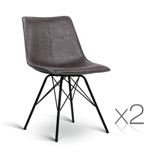 Artiss Set of 2 PU Leather Dining Chair
