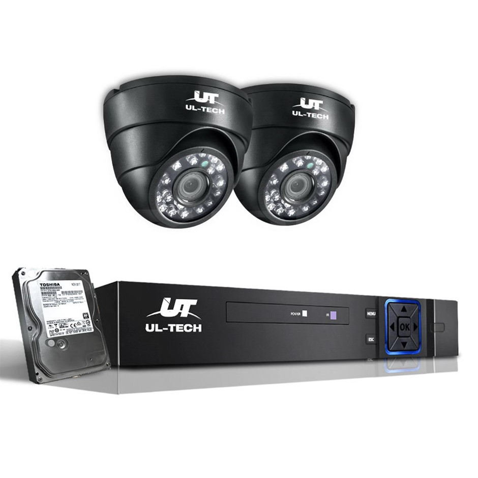 UL Tech 720P 4 Channel HDMI CCTV Security Camera with 1TB Hard Drive