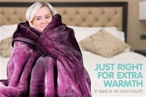 600GSM Double-Sided Queen Faux Mink Blan