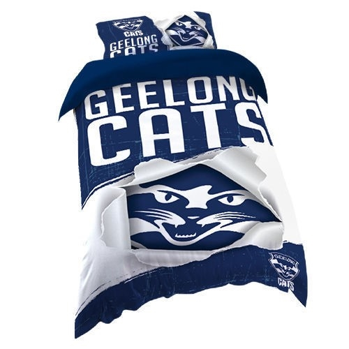 Afl Official Quilt Cover Set Single Geelong Cats Buyers Note Discount Auction Graysonline Australia