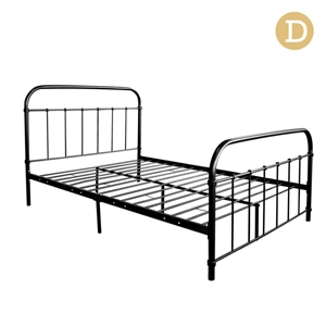 Artiss Double Size Metal Bed Frame - Bla