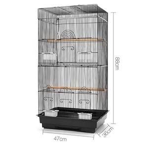 i.Pet Medium Bird Cage with Perch - Blac