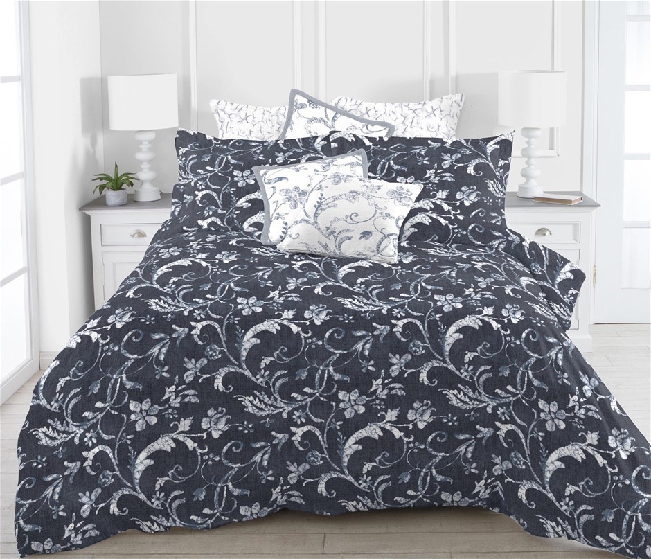 Printed Quilt Cover Set Romantica - QUEEN