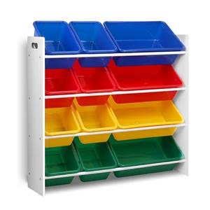 Keezi 12 Plastic Bins Kids Toy Organiser