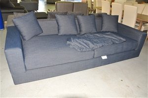 Large 4 Seater Sofa (Incomplete) - includes Back Rest Cushion Covers ...