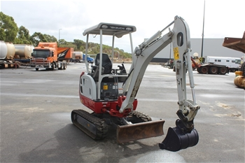 Takeuchi TB216 Rubber Tracked Excavator with Bucket
