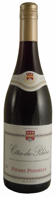 Pierre Ponnelle Cotes du Rhone 2014 (6 x 750mL) France.