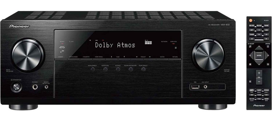 Pioneer VSX-832 5.1CH Network AV Receiver with built-in WiFi & Bluetooth
