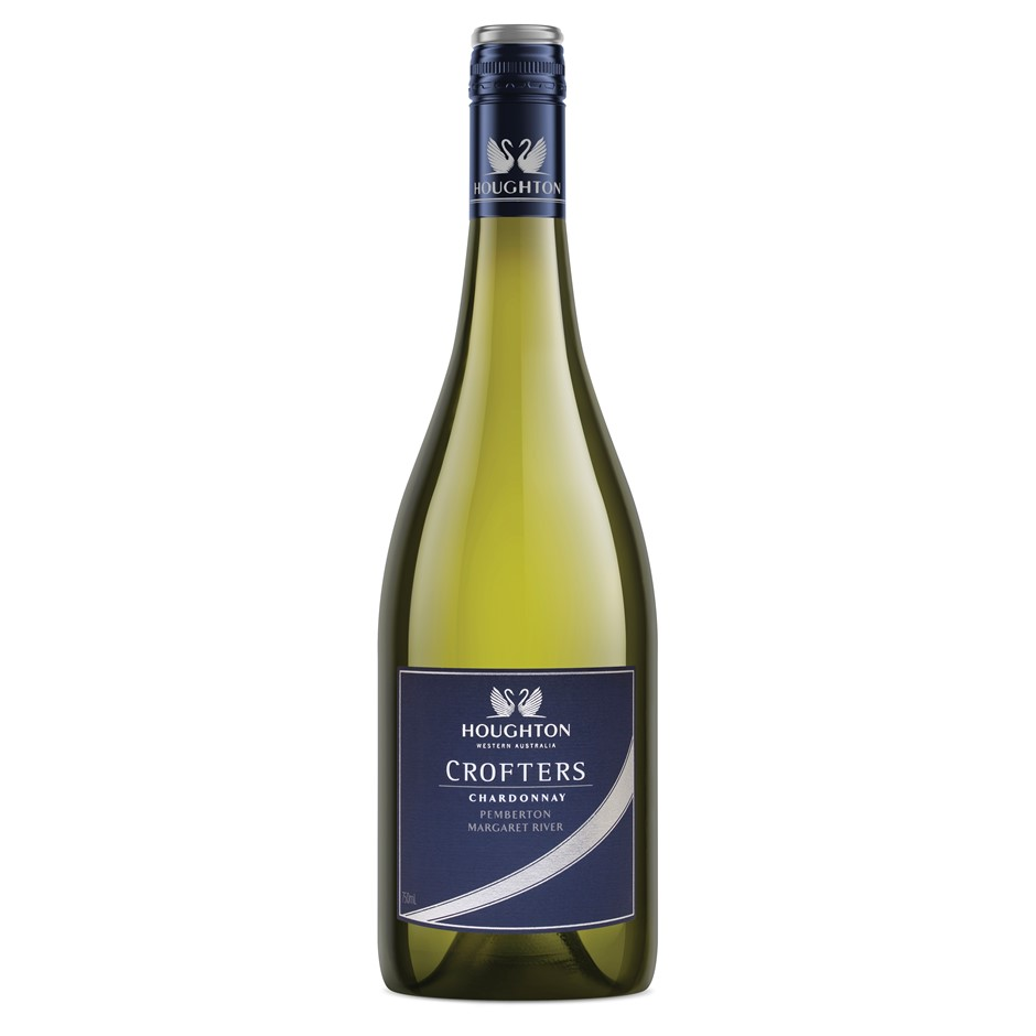 Houghton `Crofters` Chardonnay 2017 (6 x 750mL), Margaret, River, WA.