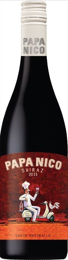 Papa Nico Shiraz 2018 (12 x 750mL), SA.