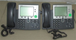 2 x Cisco IP Phone 7941, S/N: FCH12049DRQ & FCH1220ELU8(SN:FCH12049DRQ & FC