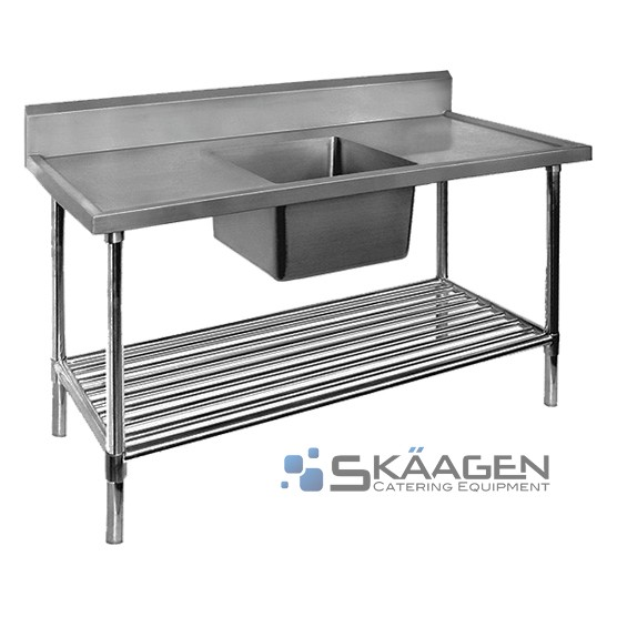 Unused Stainless Steel Sink 1700 x 600 Centre positioning Dimensi