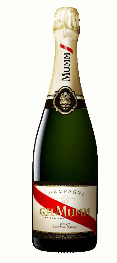 G.H.Mumm `Cordon Rouge` Champagne NV (12 x 375mL), France.